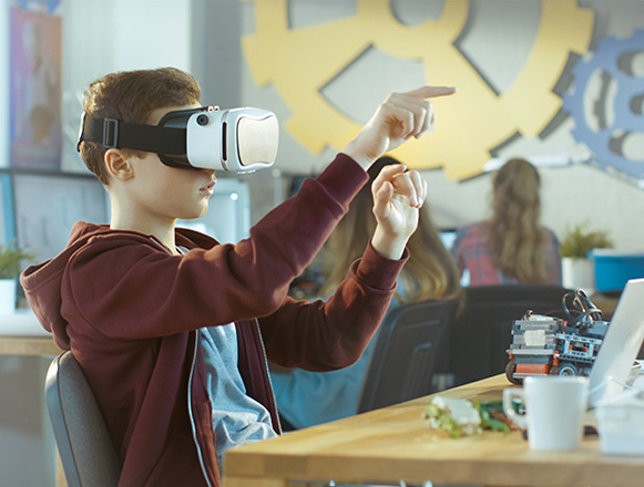 Nieuw van Qfeedback: toepassing VR-bril